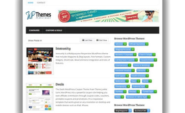 Great New WordPress Themes Collection Site
